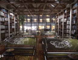 نمای داخلی کتابخانه اسکاندیناوی