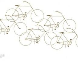 مجسمه دوچرخه دیواری