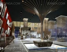 صحنه داخلی سالن نمایشگاه