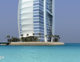 نمای خارجی برج