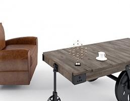 کاناپه راحتی + میز قهوه