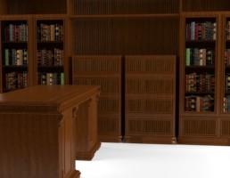 میز + قفسه کتابخانه