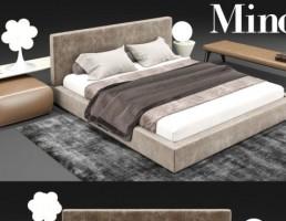 مدل سه بعدی تخت وخواب