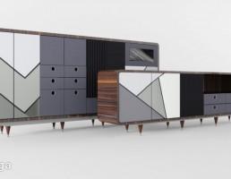 میز کنسول + کمد دیواری مدرن