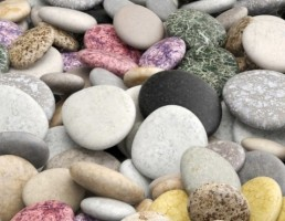مدل سنگ های رنگی