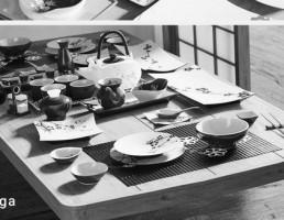 میز غذا سبک ژاپنی