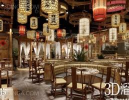 صحنه داخلی رستوران سبک چینی