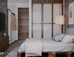 صحنه داخلی کامل اتاق خواب