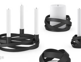 شمع + شمعدان فانتزی