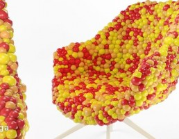 صندلی به شکل آبنبات