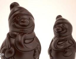 شکلات به شکل آدم برفی