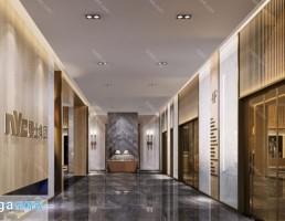 صحنه داخلی آسانسور و راهرو