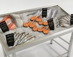 ویترین فروشگاهی ماهی