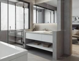 صحنه داخلی حمام و توالت مدرن 4