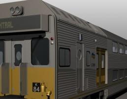 مدل سه بعدی قطار مسافرتی
