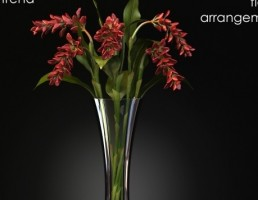گلدان + دسته گل