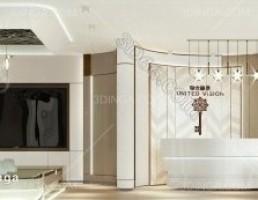 صحنه داخلی دفتر فروش مدرن