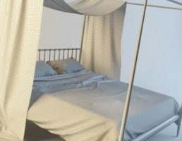 تخت خواب سایبان دار