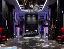 لابی هتل سبک پست مدرن