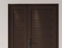 درب ورودی چوبی دوتایی