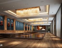 صحنه داخلی سالن موسیقی
