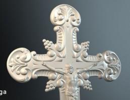 گچبری به شکل صلیب