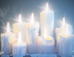 شمع های روشن