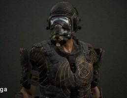 کارکتر جنگجو با ماسک