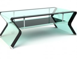 میز عسلی شیشه خور دو طبقه