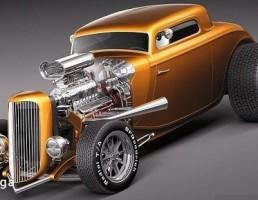 فورد مدل coupe Hot Rod سال 1943