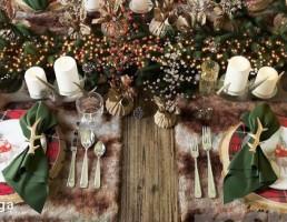میز غذای کریسمس