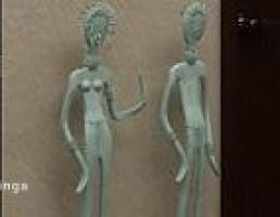 مجسمه رومیزی زن و مرد
