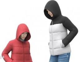 کاراکتر دختر با لباس زمستانی