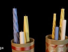 شمع + شمعدان رومیزی