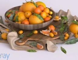 ظرف پر از پرتقال