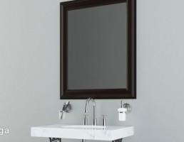 آینه + روشویی کلاسیک