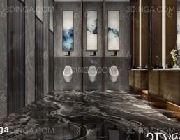 صحنه داخلی حمام مدرن