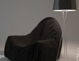 صندلی راحتی + آباژور