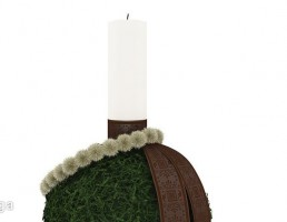 شمع + شمعدان کریسمس