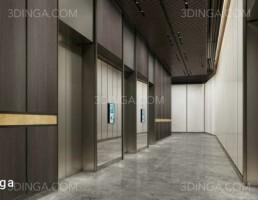 صحنه داخلی سالن آسانسور