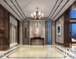 صحنه داخلی لابی ورودی سبک چینی