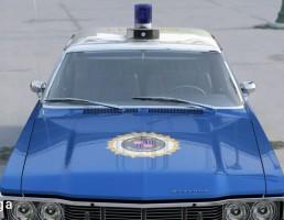 ماشین پلیس کلاسیک آمریکایی