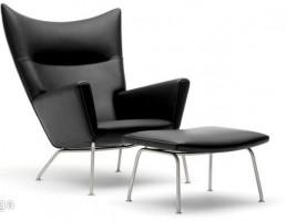 صندلی سالن چرمی + پاف