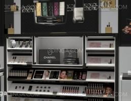صحنه داخلی فروشگاه لوازم آرایشی