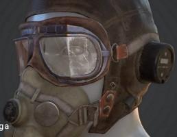کلاه+ ماسک + عینک نظامی WW2 Aviator