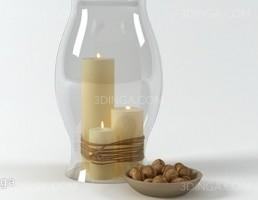 شمع و شمعدان تزیینی