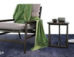 صندلی راحتی + میز قهوه + آباژور