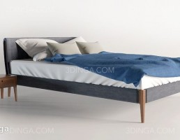 تخت خواب + میز کنارتختی