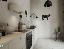 نمای داخلی آشپزخانه اسکاندیناوی