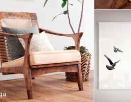 صندلی چوبی اسکاندیناوی